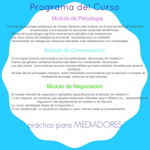 Programa del Curso Octubre 2014